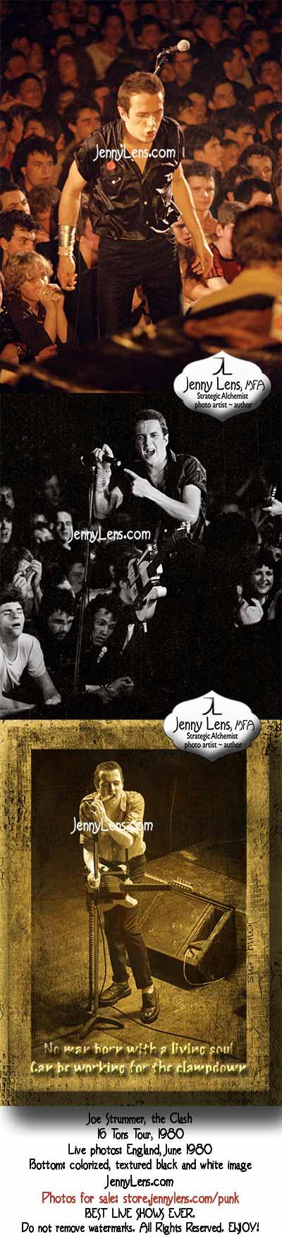 Joe Strummer, Clash, 16 Tons Tour England, June 1980. Incredible. Jenny Lens MFA
