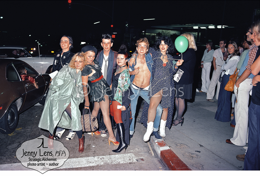 Out on the Town, August 1977, Sunset Strip, Jenny Lens MFA