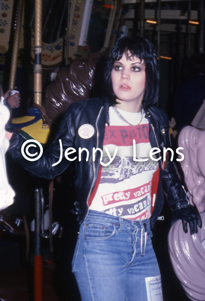 Joan Jett, Santa Monica Pier Carousel, Runaways Ramones post-show party, Jan 27, 1978.