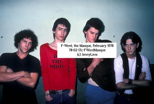 Rik L Rik, F-Word, FWord, The Masque, February 1978. (c) Jenny Lens