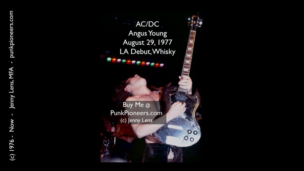 AC/DC, Angus Young, Whisky, LA Debut August 29, 1977 (Angus3)