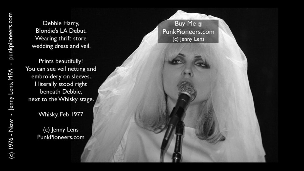 Blondie Bride Veil, Debbie Harry, Feb 1977