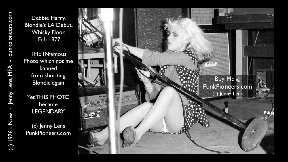 Blondie on Floor, Debbie Harry, Whisky Feb 1977
