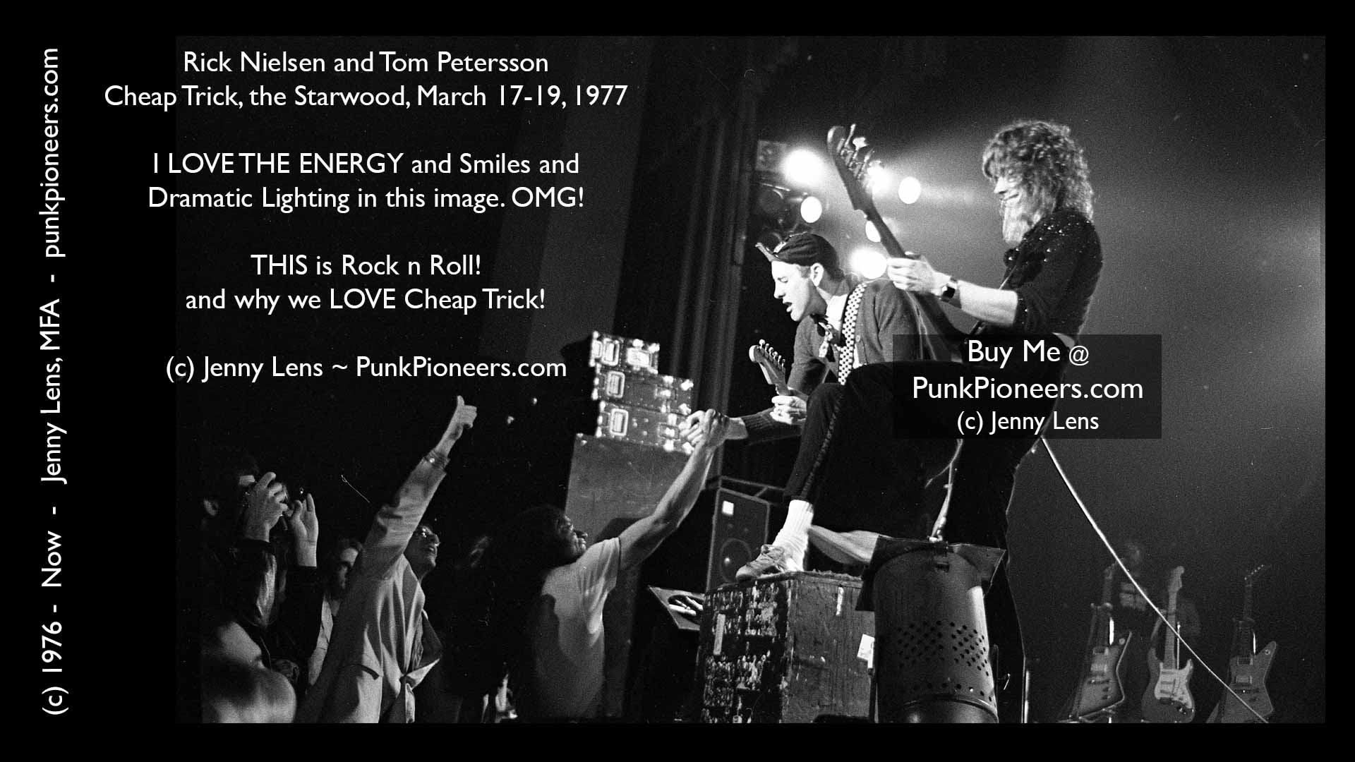 Cheap Trick, Rick Nielsen, Tom Petersson, Starwood, March 1977, Jenny Lens, PunkPioneers.com