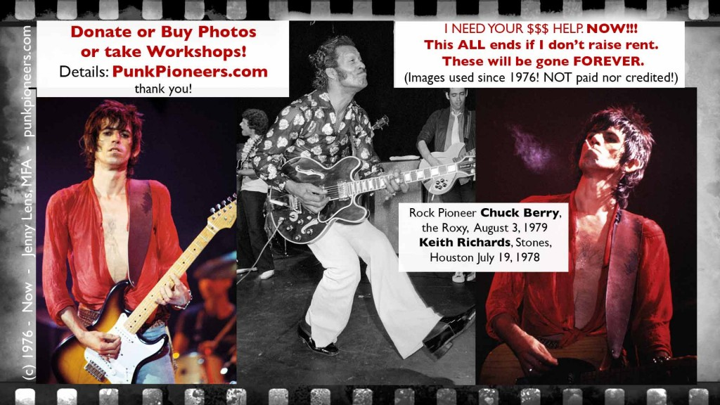 Chuck Berry, Keith Richards, Jenny Lens, Punk Pioneers