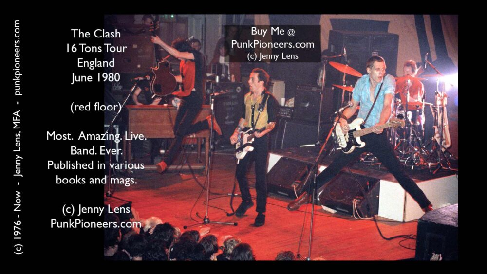Clash, 16 Tons Tour, England, Red floor, June 1980