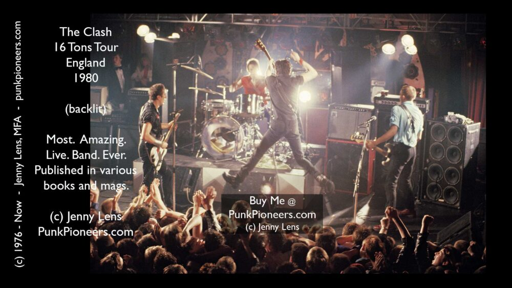Clash, 16 Tons Tour, England Backlit, June 1980