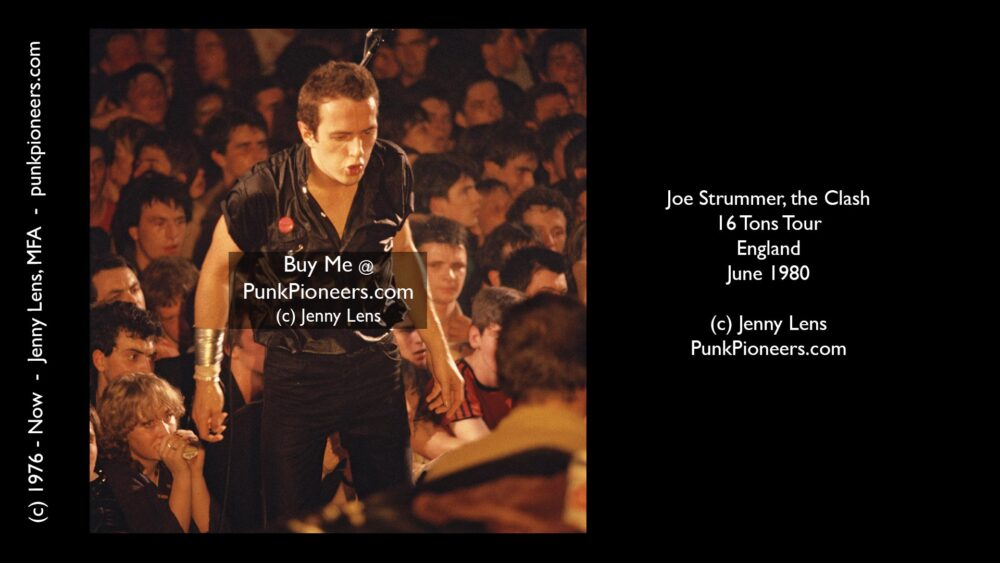 Clash, Joe Strummer, 16 Tons Tour, England, Color, June 1980