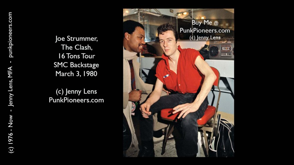 Clash, Joe Strummer, 16 Tons Tour, Santa Monica Civic Backstage March 3, 1980