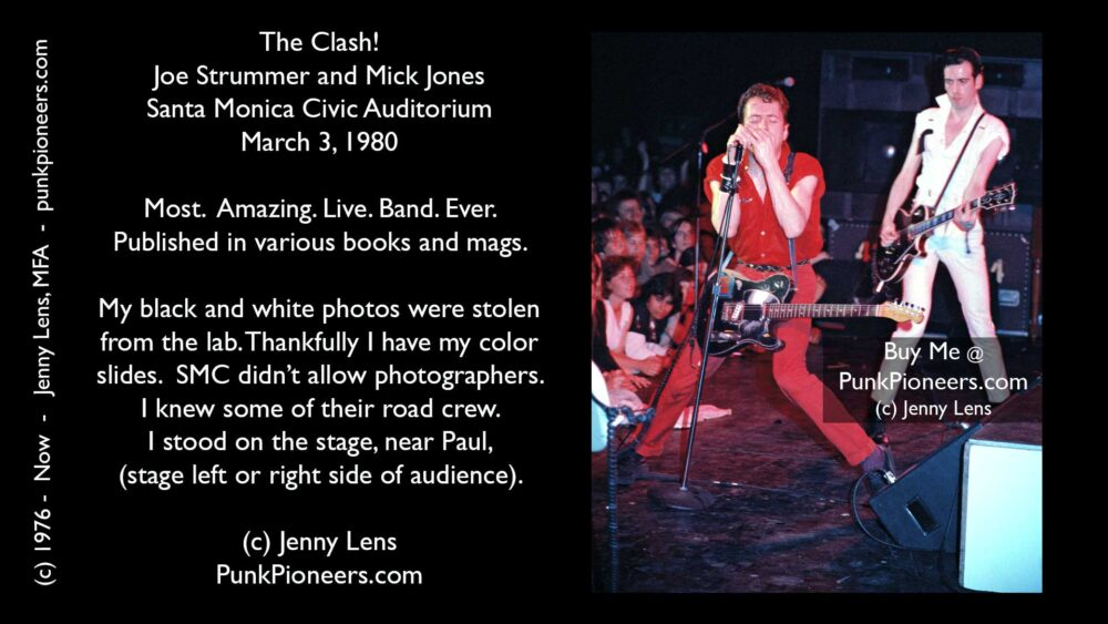 Clash, Joe Strummer and Mick Jones, 16 Tons Tour, Santa Monica Civic March 3, 1980