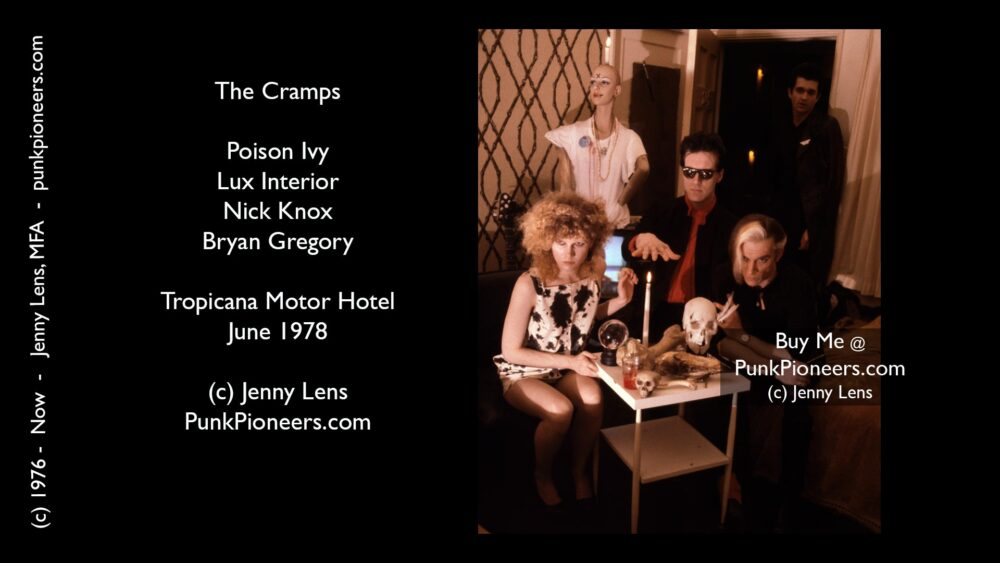 Cramps, Tropicana Motor Hotel. Tall image June 1978