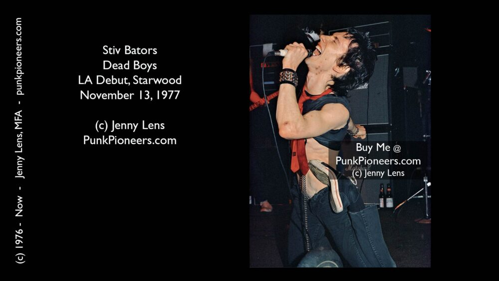 Dead Boys, Stiv Bators Contortion Nov 13, 1977