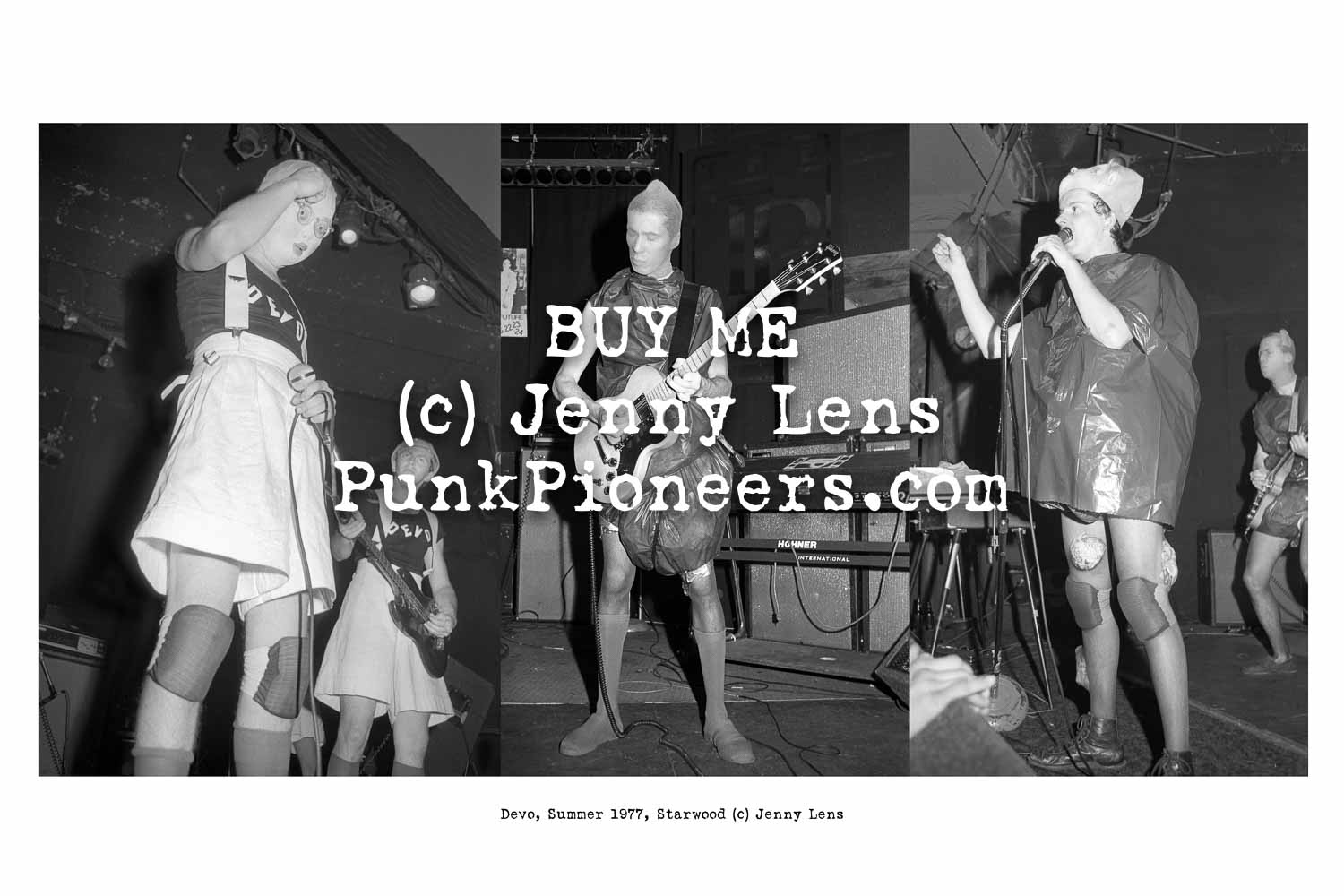 Devo 1977-80, LA with Jenny Lens Punk Photos