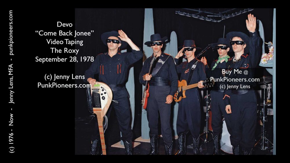 Devo, Roxy, Come Back Jonee taping Sept 28, 1978