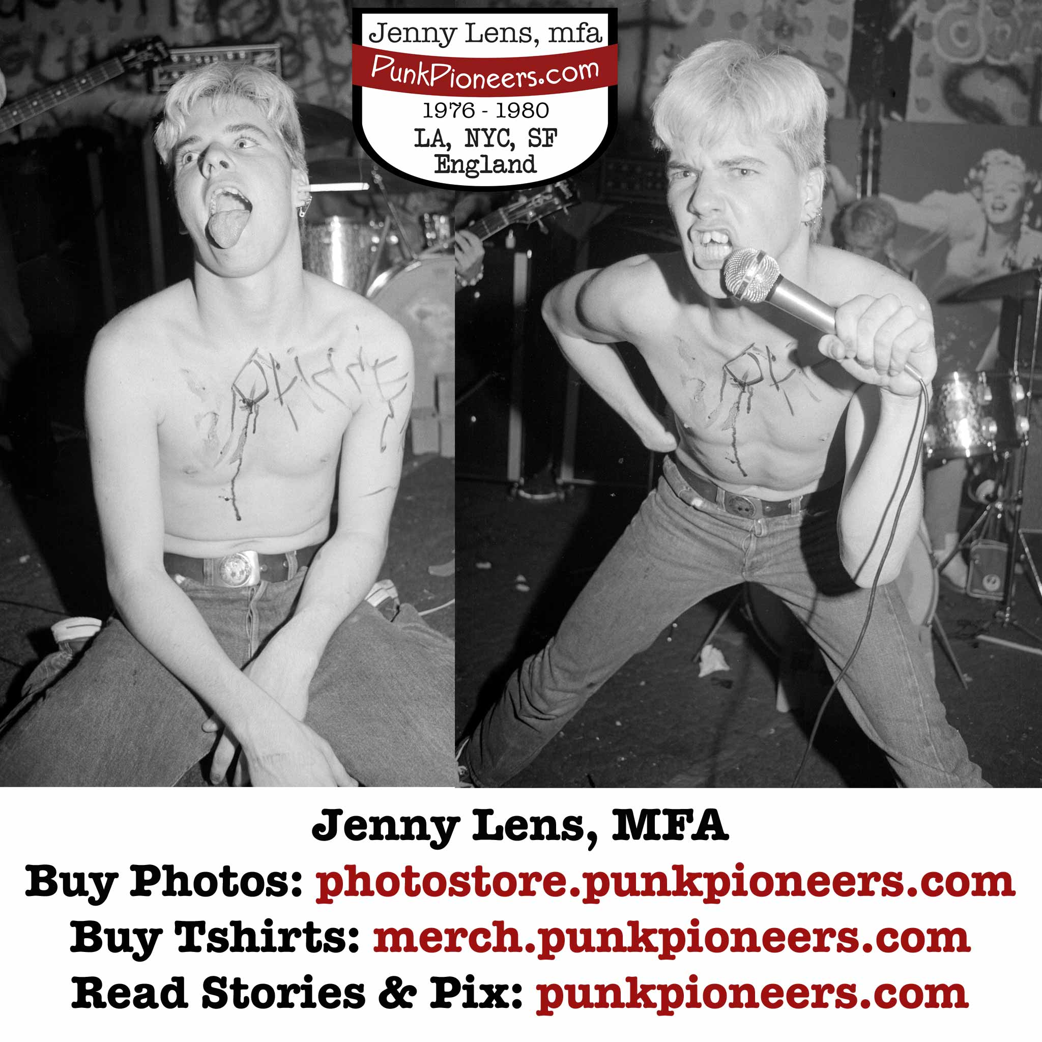 Germs Short Vid with Jenny Lens Punk Photos