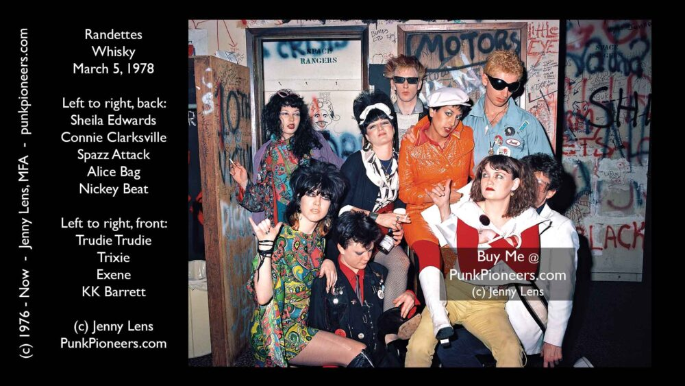 Fashion, Randettes, Alice Bag, Exene Cervenka, Whisky Backstage, March 5, 1978