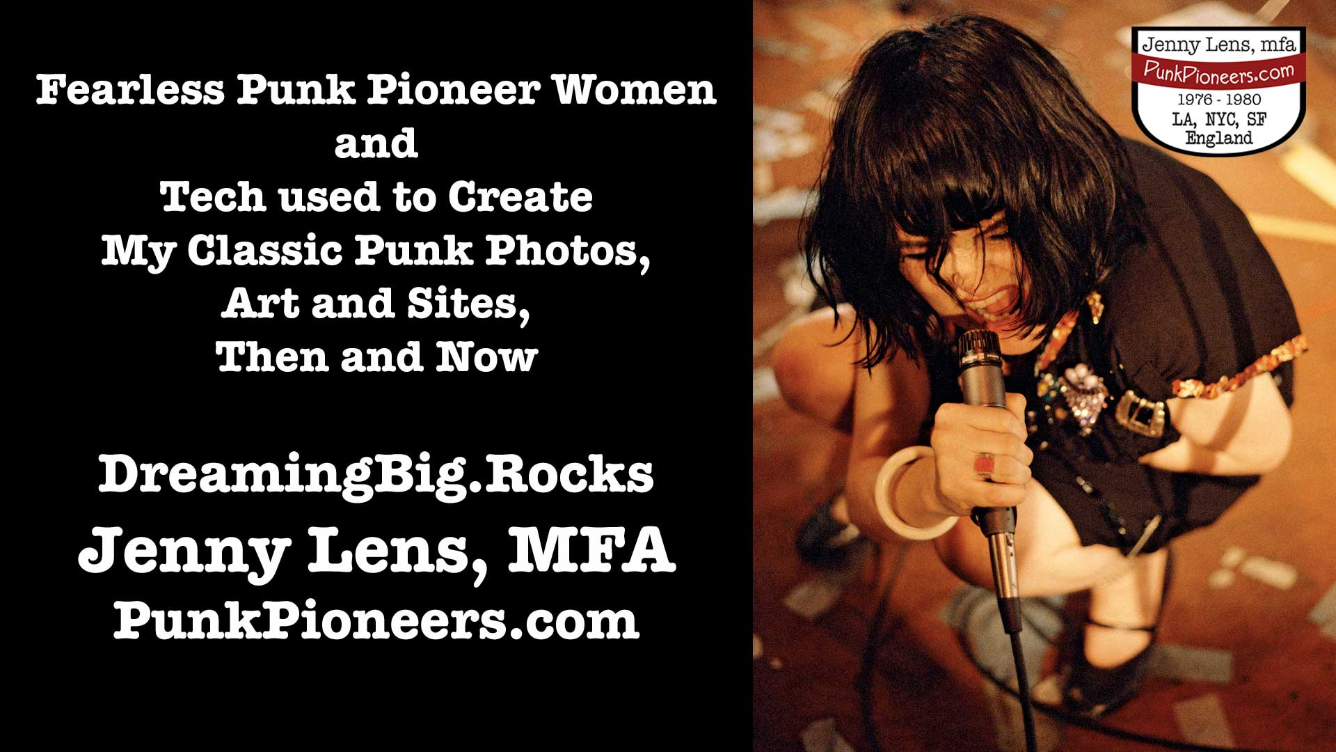 Fearless Punk Pioneers Women and the Tech I used to Create My Archive and Sites, Then and Now