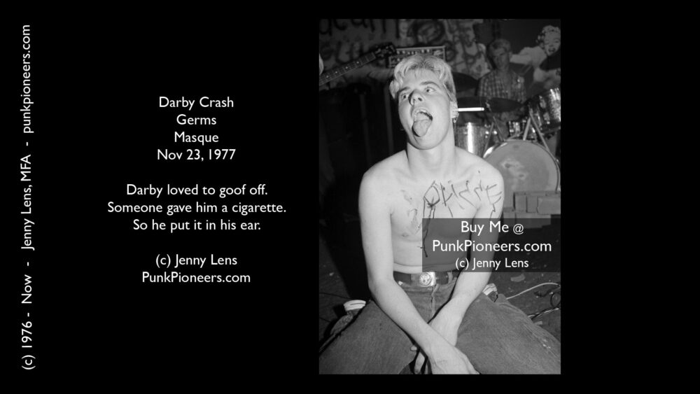 Germs, Darby Crash, Cig Masque Nov 23, 1977
