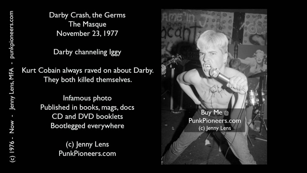 Germs, Darby Crash, Masque Nov 23, 1977