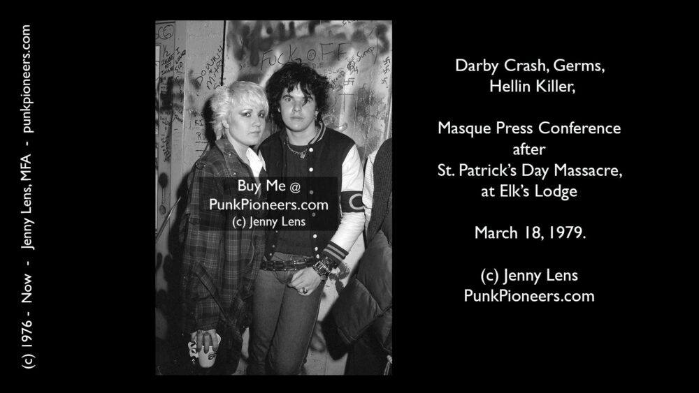 Germs, Darby Crash and Hellin Killer, Masque March 18, 1979