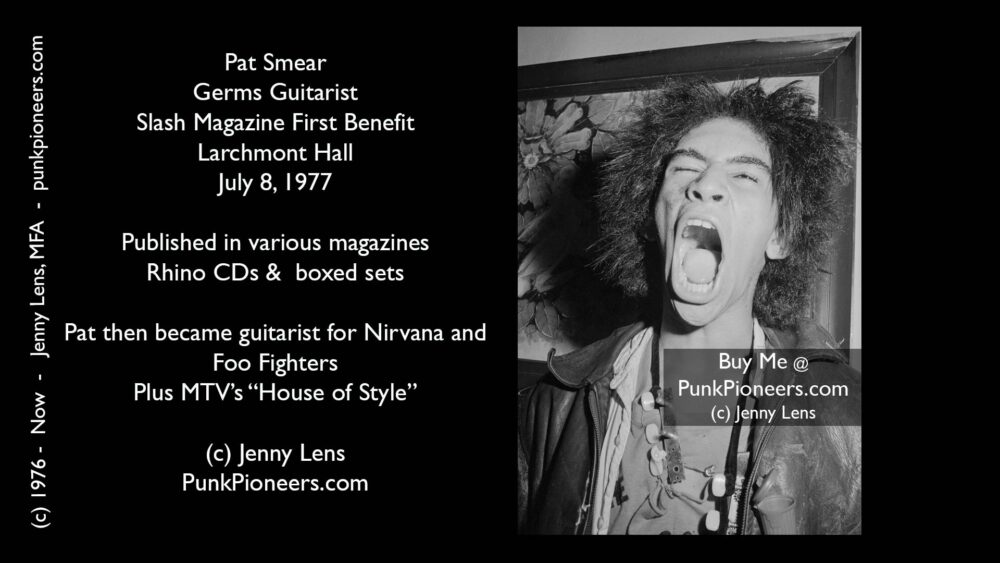 Germs, Pat Smear, Larchmont Hall, Slash Mag Benefit July 8, 1977