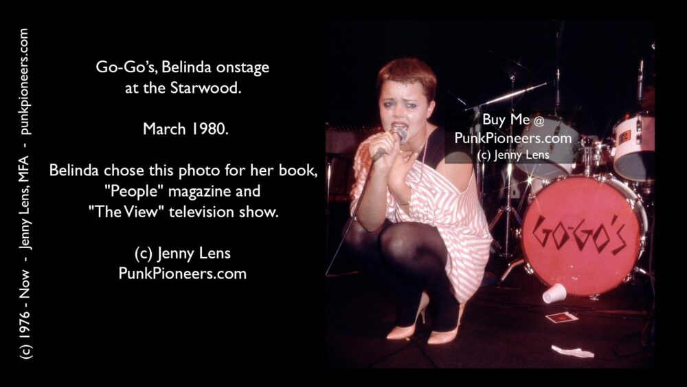 GoGos Belinda Kneeling, Starwood March 1980