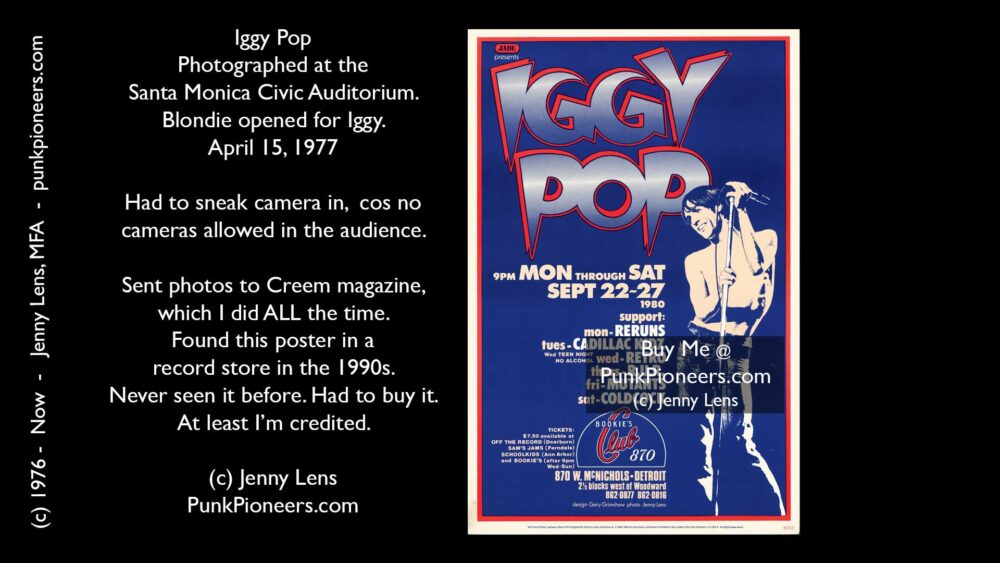 Iggy Pop Poster April 15, 1977