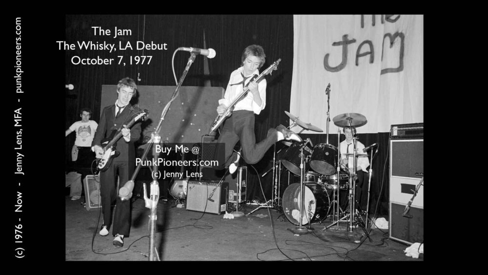 The Jam, Whisky, their LA Debut, October 7, 1977, Jenny Lens, PunkPioneers.com
