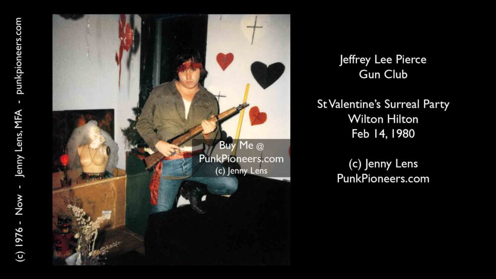 Jeffrey Lee Pierce, Gun Club, Surreal Valentines Party, Feb 14, 1980, Jenny Lens, PunkPioneers.com