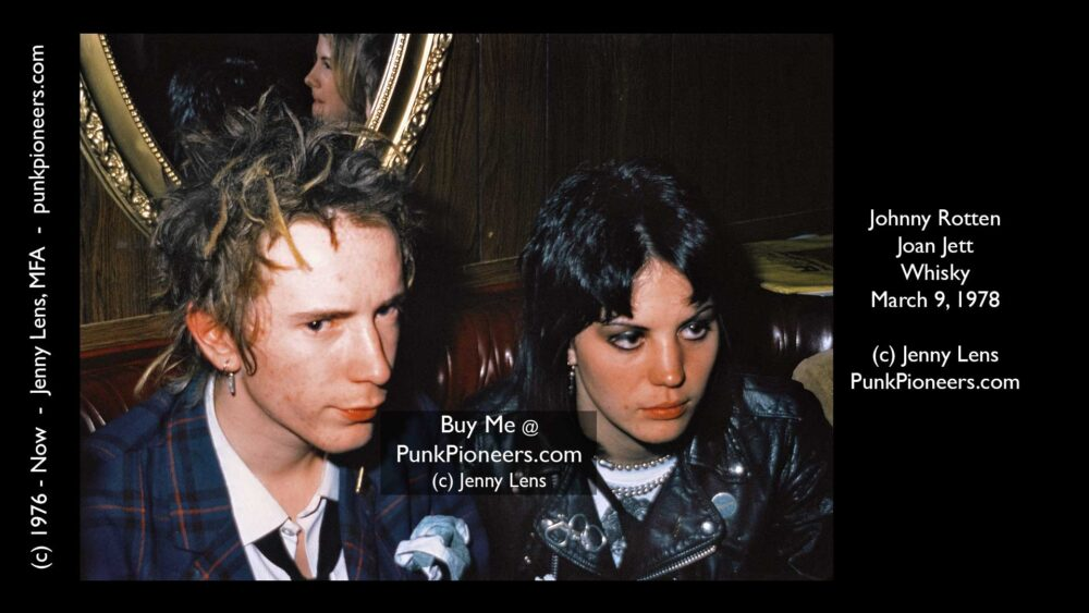 Joan Jett and Johnny Rotten, Whisky March 9, 1978