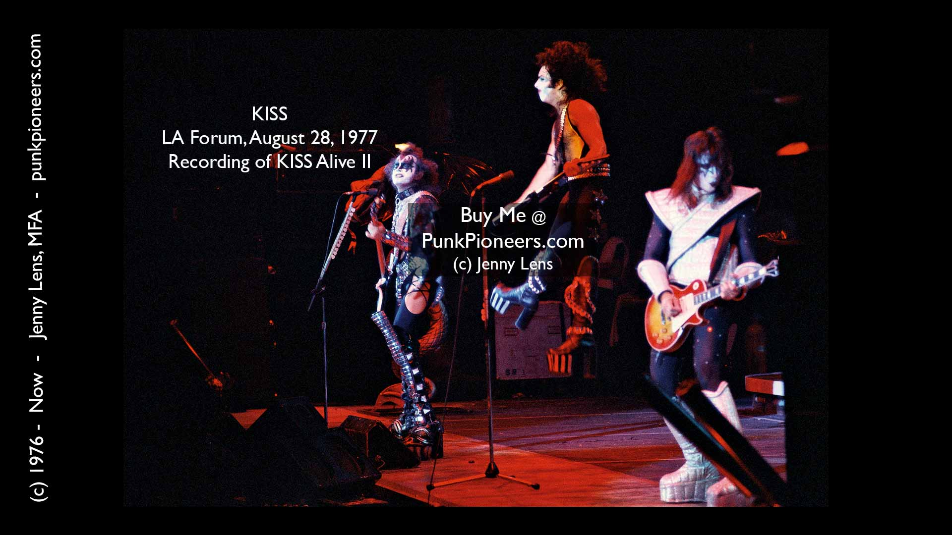 KISS, LA Forum, August 28, 1977,, Jenny Lens, PunkPioneers.com recording of KISS Live II