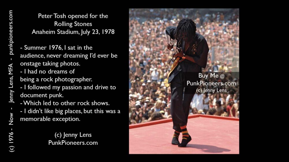 Peter Tosh, Anaheim Stadium, July 23, 1978