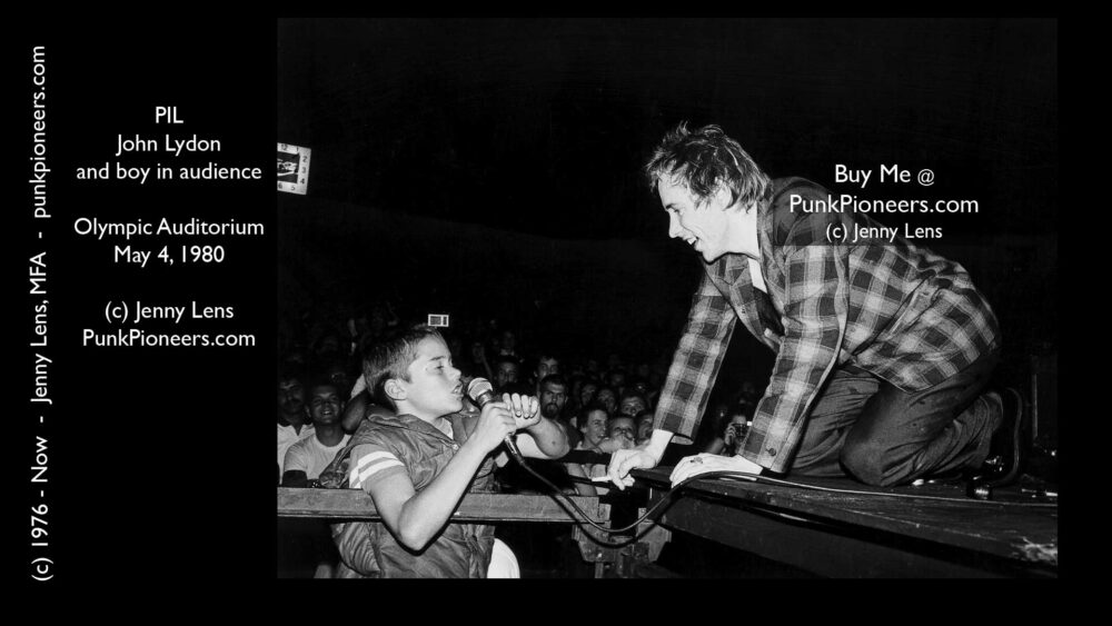 PiL John Lydon and little boy, Olympic Auditorium, May 4, 1980