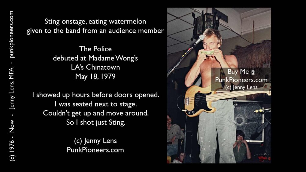 Police, Sting, Madame Wong's, Melon, May 18, 1979