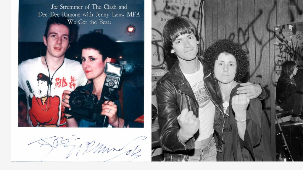 joe strummer, the clash, dee dee ramone, the ramones, jenny lens