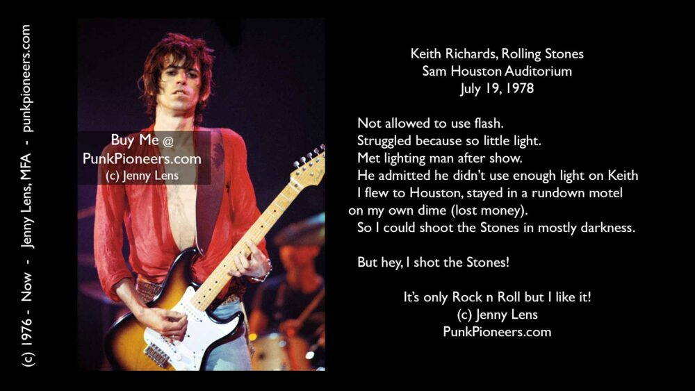 Rolling Stones Keith Richards, Houston, July 19, 1978