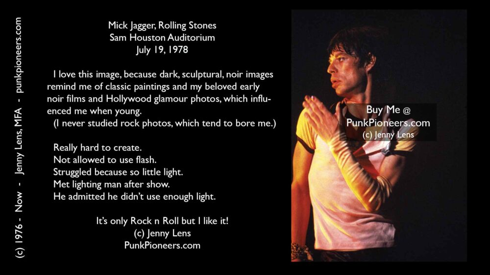 Rolling Stones Mick Jagger, Houston, July 19, 1978