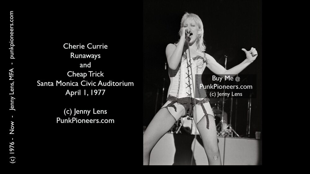Runaways Cherie Currie, Santa Monica Civic, April 1, 1977