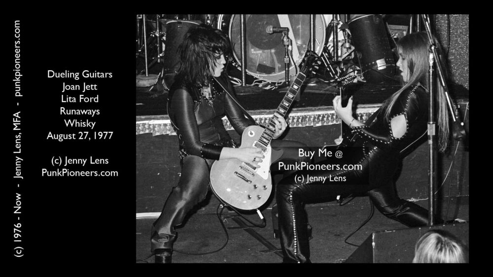 Runaways, Dueling Guitars, Joan Jett, Lita Ford, August 27, 1977