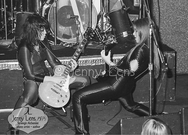 Joan Jett and Lita Ford, Dueling Guitars, Whisky, August 27, 1977