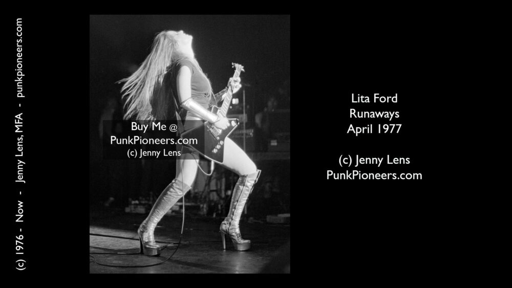 Runaways Lita Ford, March 1977