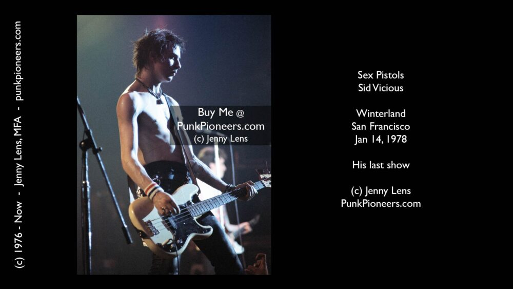 Sex Pistols, Sid Vicious, Winterland, January 14, 1978