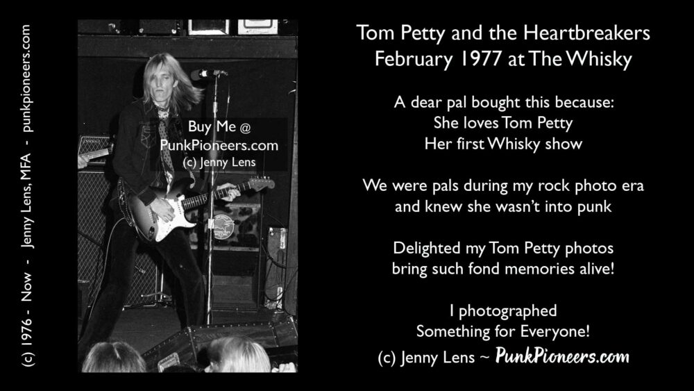Tom Petty and the Heartbreakers, the Whisky, February 1977, Jenny Lens, mfa