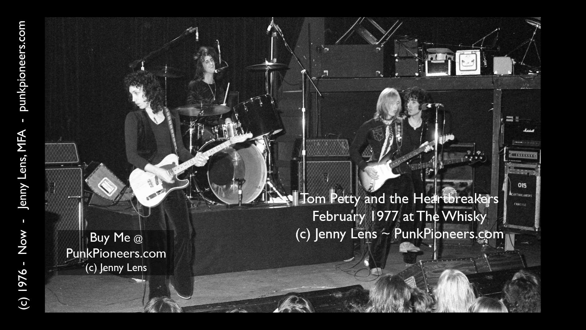 Tom Petty and the Heartbreakers, the Whisky, February 1977, Jenny Lens, mfa