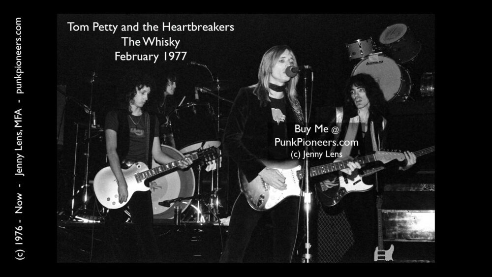 Tom Petty and Heartbreakers, the Whisky, February 1977 (2-6g)