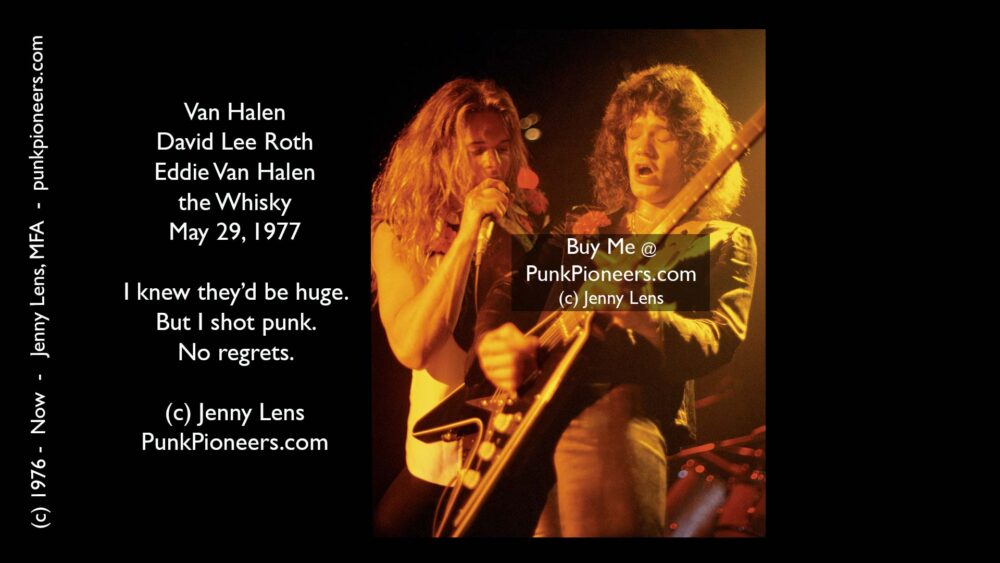 Van Halen, David Lee Roth and Eddie Van Halen, Whisky May 29, 1977