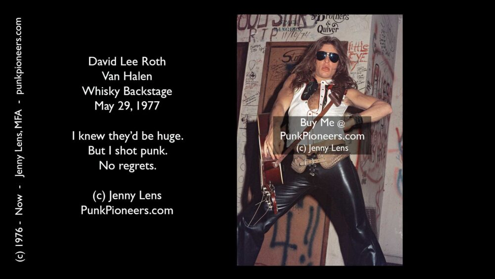 Van Halen, David Lee Roth, Whisky May 29, 1977
