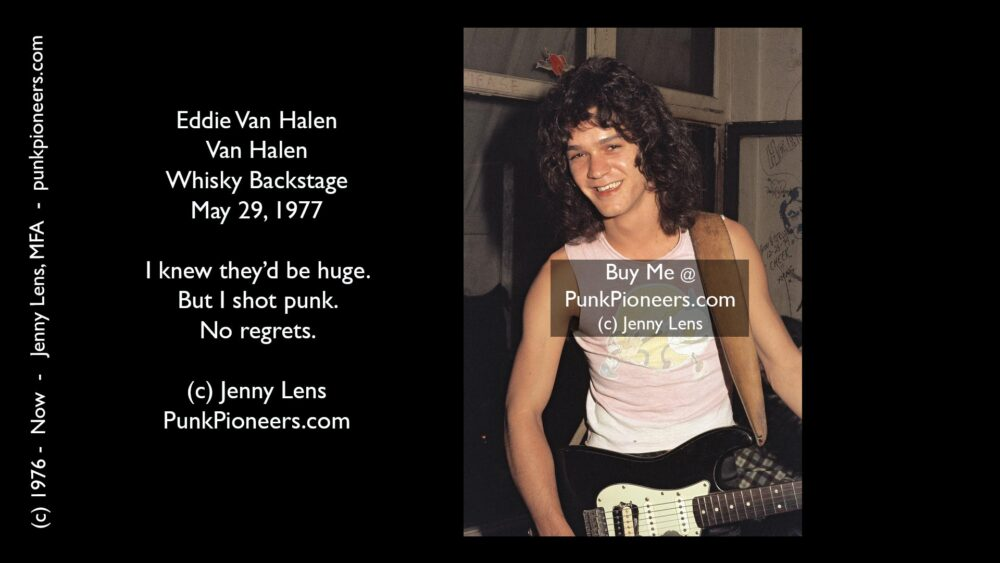 Van Halen, Eddie, Whisky May 29, 1977