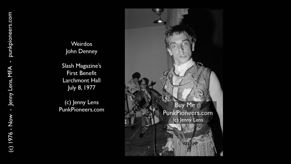 Weirdos, John Denney Slash Magazine Benefit, Larchmont Hall, July 8, 1977