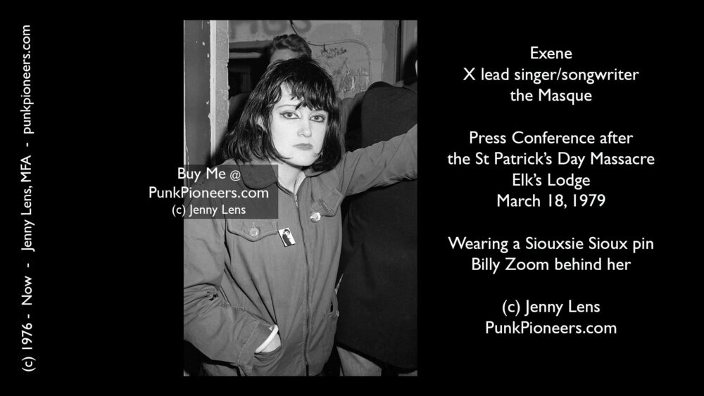 X, Exene Cervenka, Masque, March 18, 1979